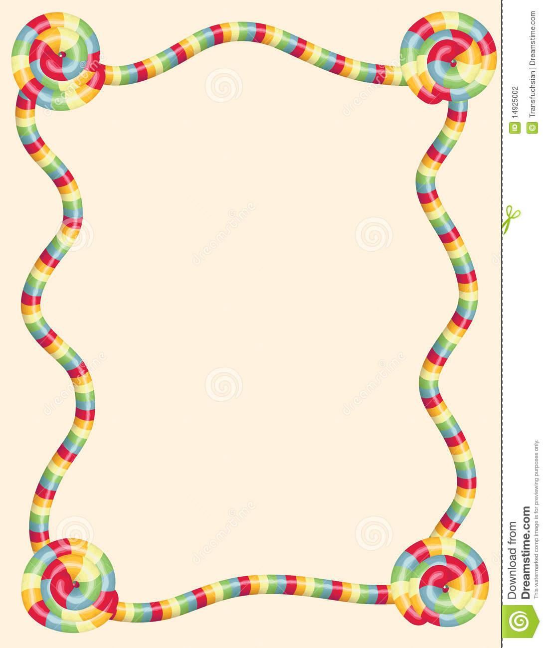Candyland Border Clipart #1