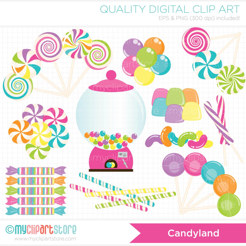 Candyland Gumdrop Clipart Digital Clipart Candyland