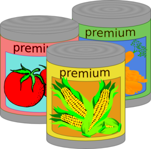 Canned Food Clip Art