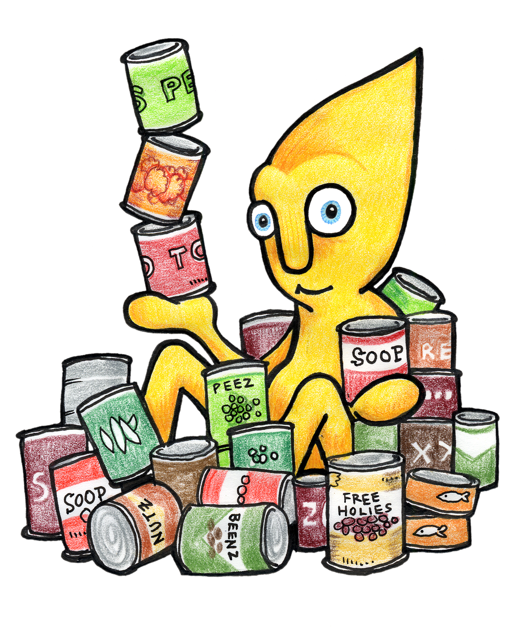 Canned food food drive clip art 2