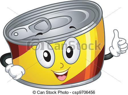 Canned Food Vector Clipartby PhotoEuphoria11/1,080; Canned Food Mascot - Mascot Illustration of a Canned Food