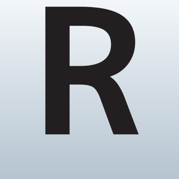 Capital Letter R 3d Model Made With 123d-Capital Letter R 3d Model Made With 123d Clip Art-3