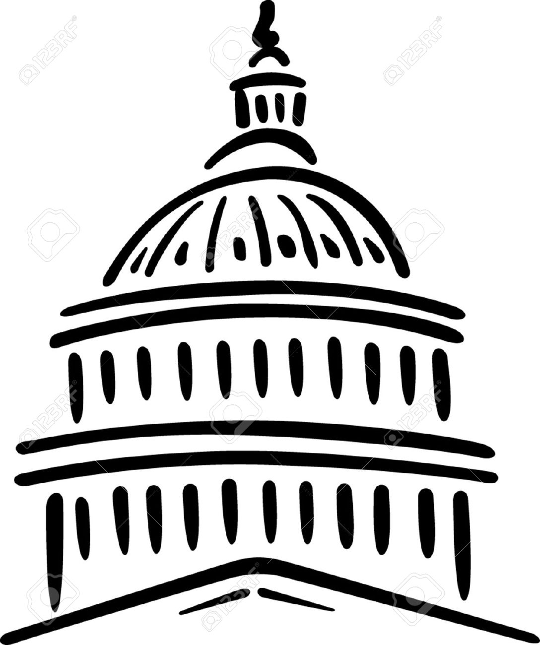 ... capitol building dome clipart ...