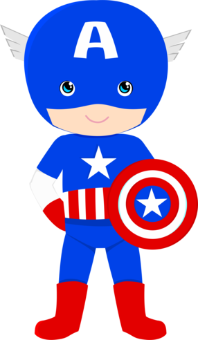 SUPER HERÓIS · Superhero Le - Captain America Clipart