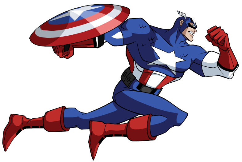 Captain America Logo Clipart. America Leap, Capt.