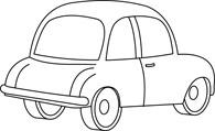 Car Cartoon Outline Size: 61 Kb