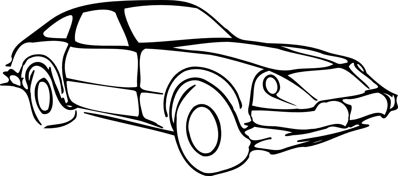 Car Clipart Black And White Car Outline Modified Black White Line Art