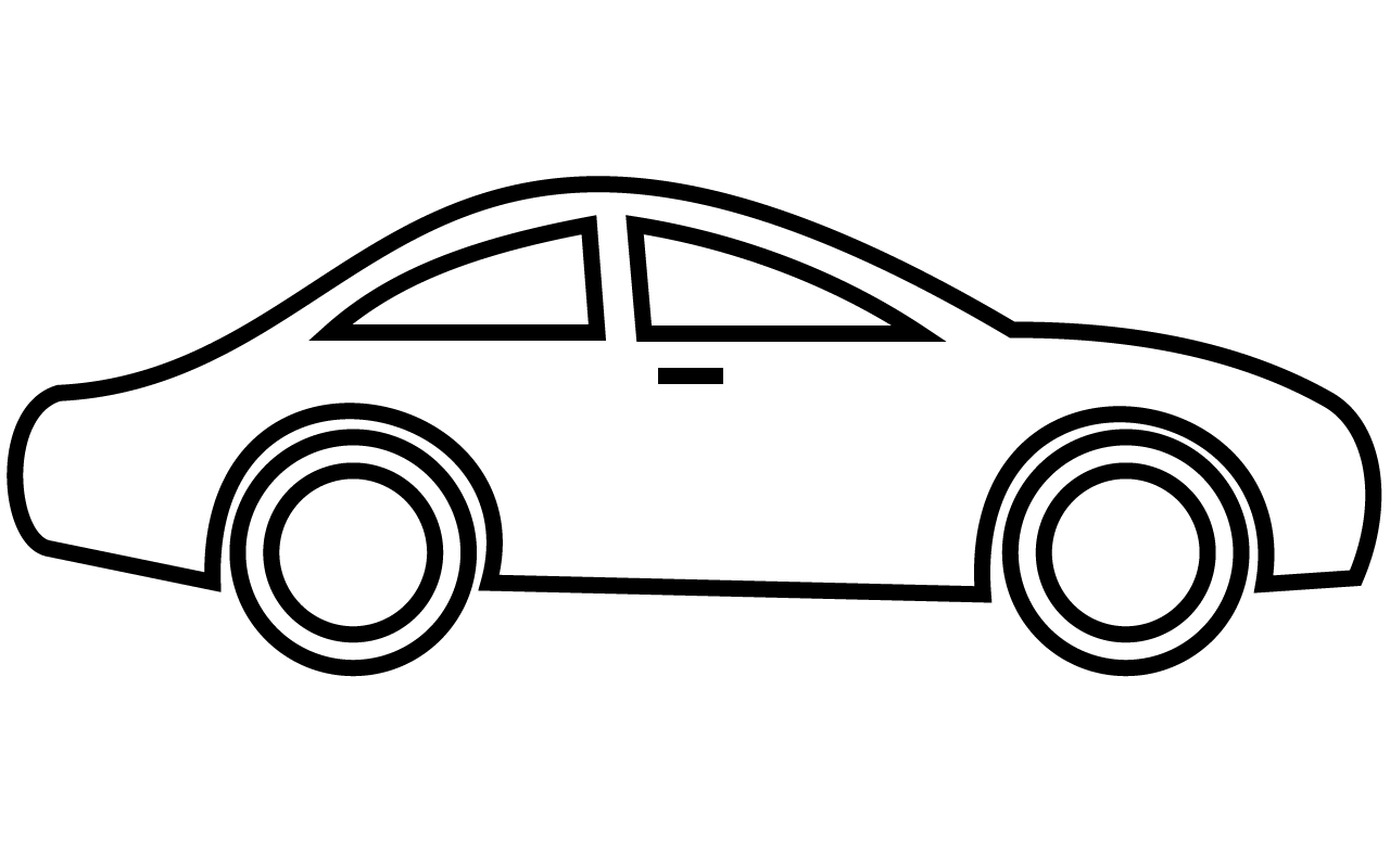Car black and white race car  - Car Clipart