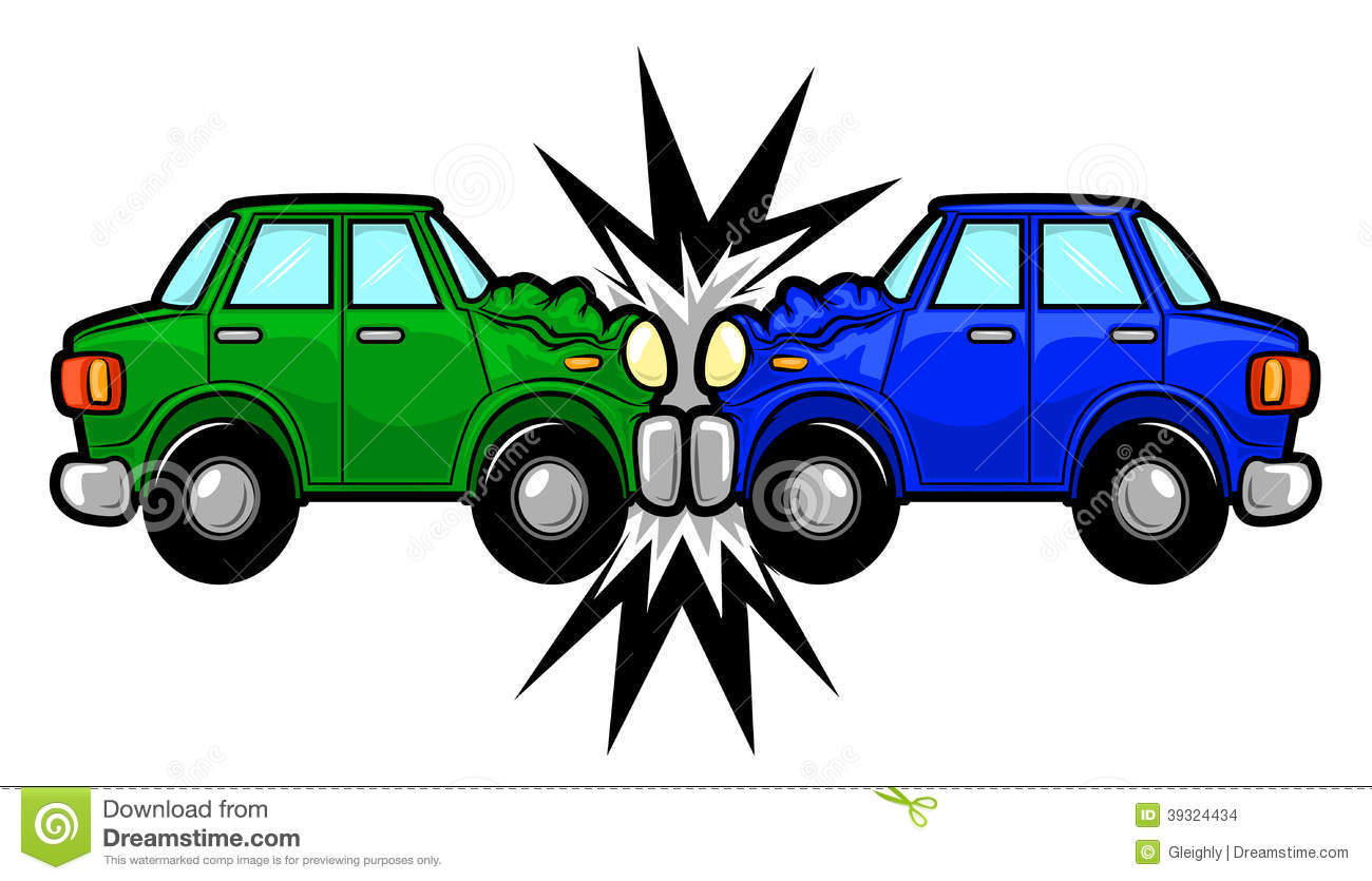 car crash clipart