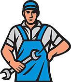 Car Mechanic, illustration · auto mechanics, professional worker
