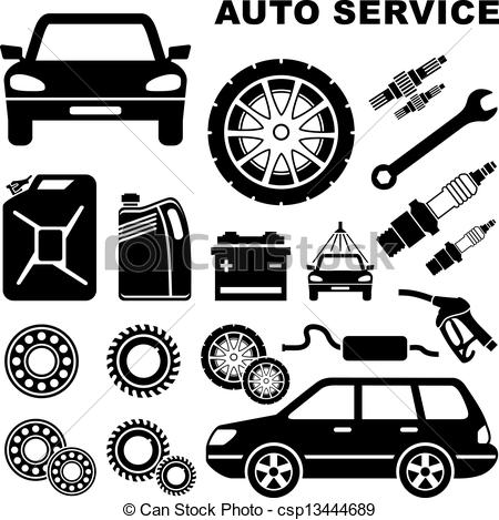 Car Repair Shop Clip Art. Stock Clip Art Icon Stock .