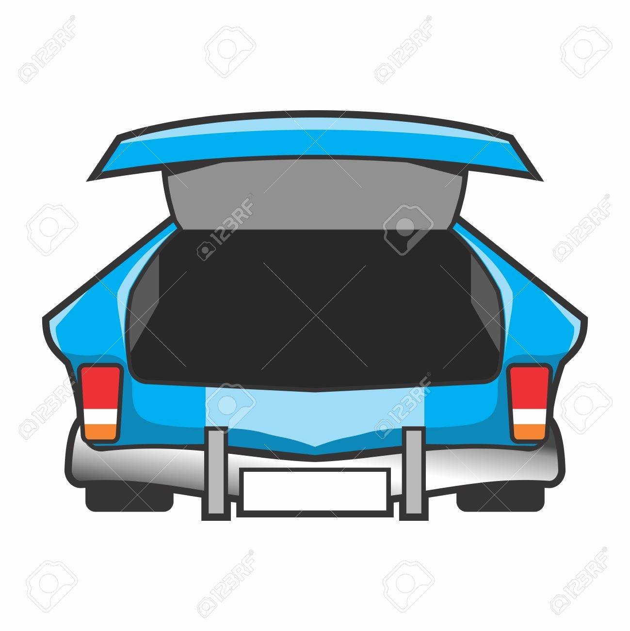 Empty Open Trunk of a Car Stock Vector - 84814823