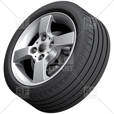 Alloy car wheel, isolated on white backg-Alloy car wheel, isolated on white background, 112911, download  royalty-free vector ClipartLook.com -7
