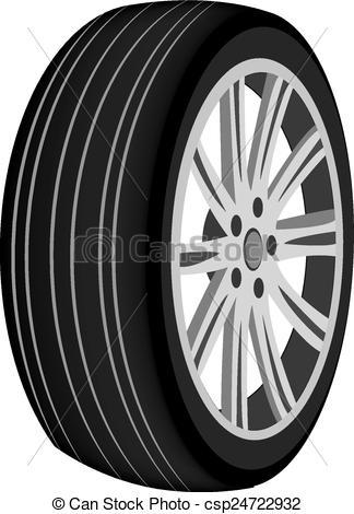 Car Wheel. Illustration On White Backgro-Car Wheel. Illustration On White Background For Design-13