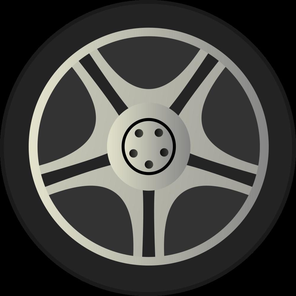 Simple Car Wheel Tire Rims Side View-Simple Car Wheel Tire Rims Side View-0