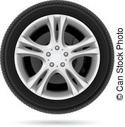 ... Car wheel. Illustration on white bac-... Car wheel. Illustration on white background for design-15