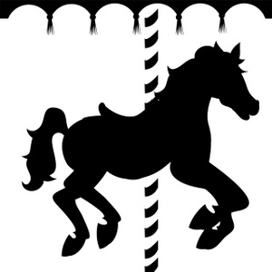Caraousel Horse Clipart Image: Silhouett-Caraousel Horse Clipart Image: Silhouette of a carousel horse   Silhouette   Pinterest   Twinkle lights, Carousels and Carousel horses-0