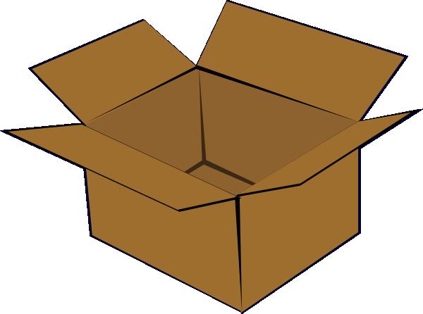 Cardboard Box Clip Art At Clker Com Vector Clip Art Online Royalty