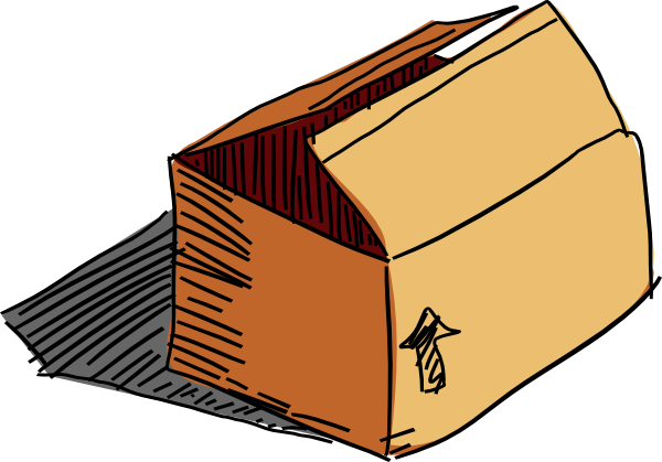 Full Cardboard Box Clipart Fr