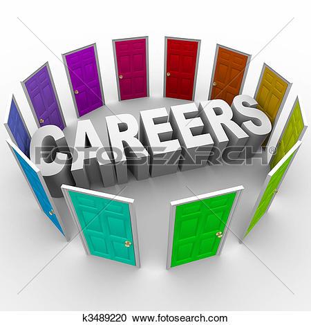 Careers - Word Surrounded By Doors-Careers - Word Surrounded by Doors-15