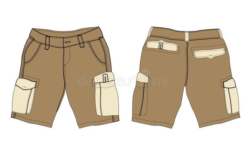 Download Brown Cargo Pants Stock Illustr-Download Brown cargo pants stock illustration. Illustration of templates -  24306518-2