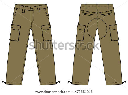 Illustration Of Menu0027s Cargo Pants-Illustration of menu0027s cargo pants-0