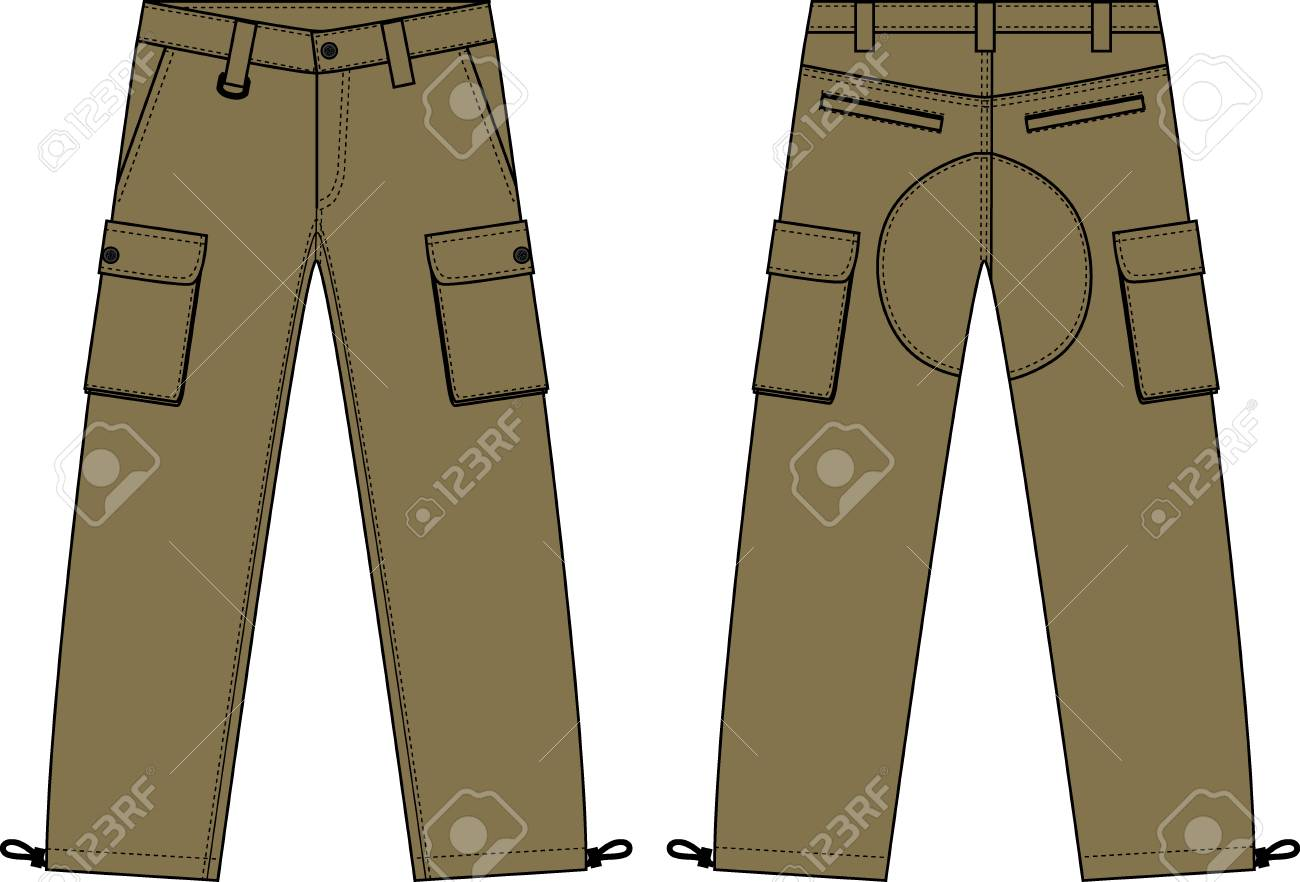 Illustration Of Menu0027s Cargo Pants St-Illustration of menu0027s cargo pants Stock Vector - 91591153-9