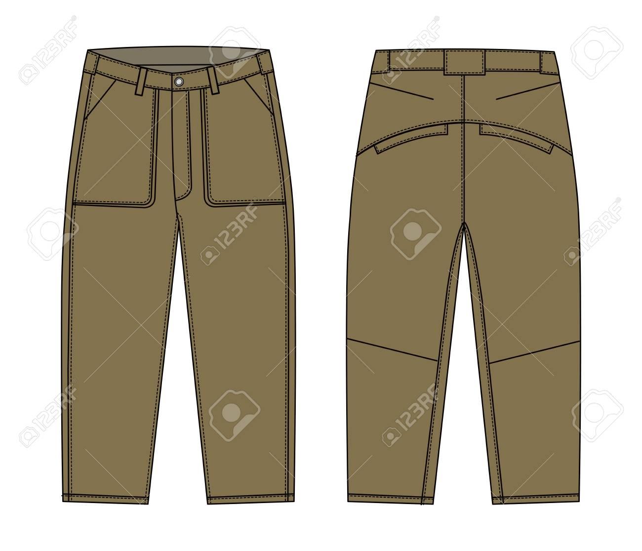 Illustration Of Menu0027s Cargo Pants St-Illustration of menu0027s cargo pants Stock Vector - 91808701-16