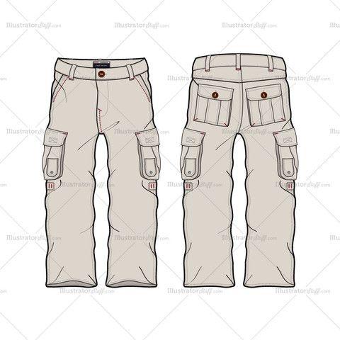 Menu0027s Cargo Pant Fashion Flat Templa-Menu0027s Cargo Pant Fashion Flat Template-19