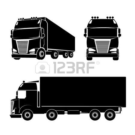Black Silhouette Truck Icon. Car And Cargo And Cabin. Vector ClipartLook.com Royalty Free  Cliparts, Vectors, And Stock Illustration. Image 37117368.