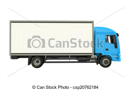 Blue Cargo Truck - csp20762184