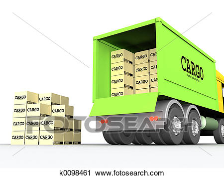 Clipart - Cargo-truck #1. Fotosearch - Search Clip Art, Illustration Murals