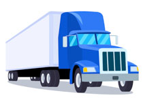 truck with long trailer blue cab clipart. Size: 61 Kb