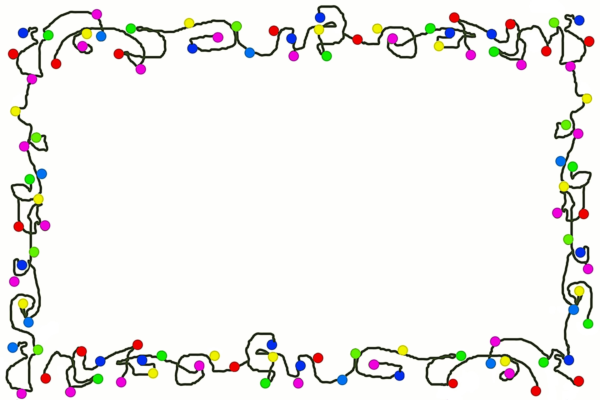 Caricatura De Navidad Luces De Borde Stock De Foto Gratis Hd Public