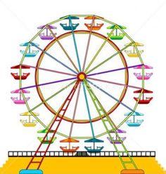 Carnival ferris wheel clip art digital clipart ferris wheel with