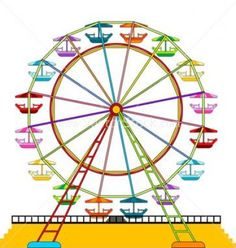 Carnival Ferris Wheel Clip Art Digital C-Carnival ferris wheel clip art digital clipart ferris wheel with-0