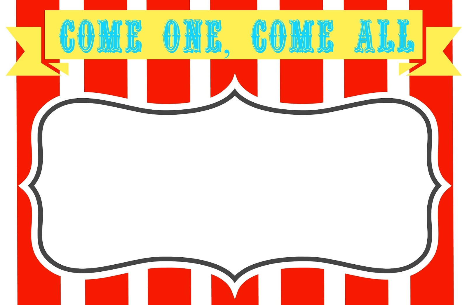 Carnival signs template .