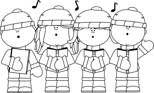 Carolers Black And White .