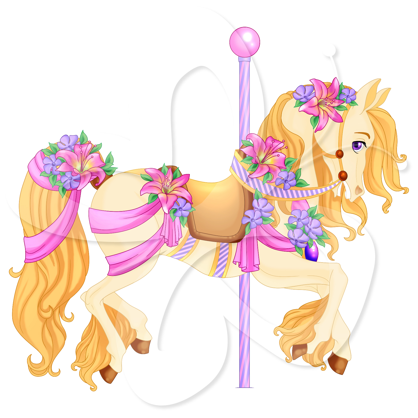 Carousel Horse Clipart-carousel horse clipart-3