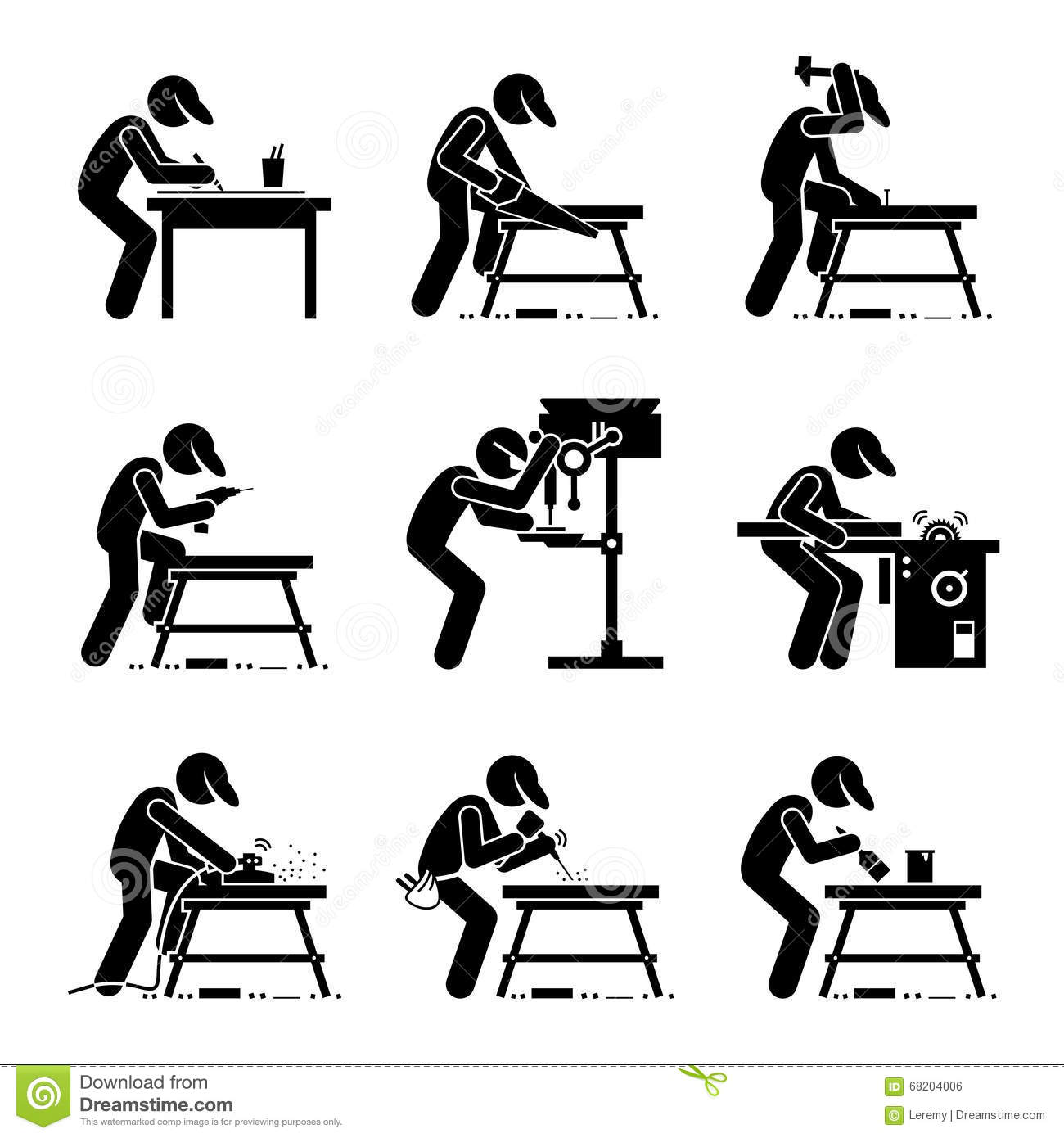Carpenter Woodworking Clipart