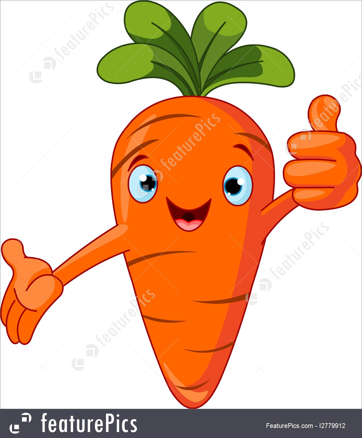 Illustration Of A Carrot Character Givin-Illustration of a Carrot Character giving thumbs up-17