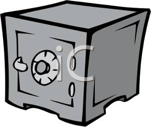 Carrtoon Of A Combination Lock Safe Roya-Carrtoon Of A Combination Lock Safe Royalty Free Clipart Picture-1