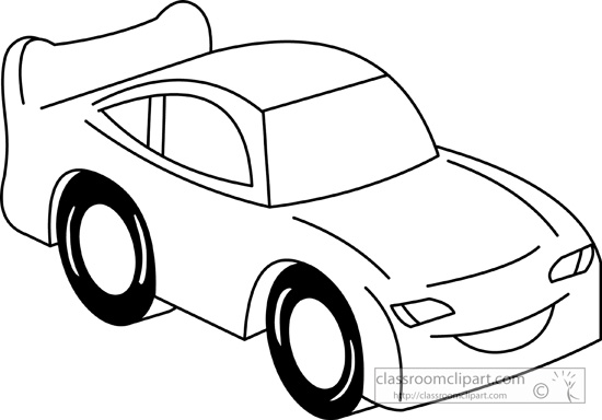 Cars Cars Cartoon 09 Outline Classroom Clipart