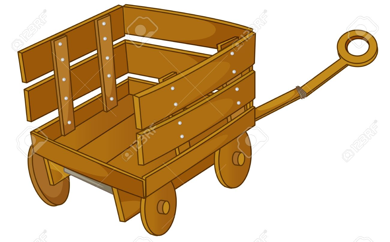 clipart style cartoon of a cart