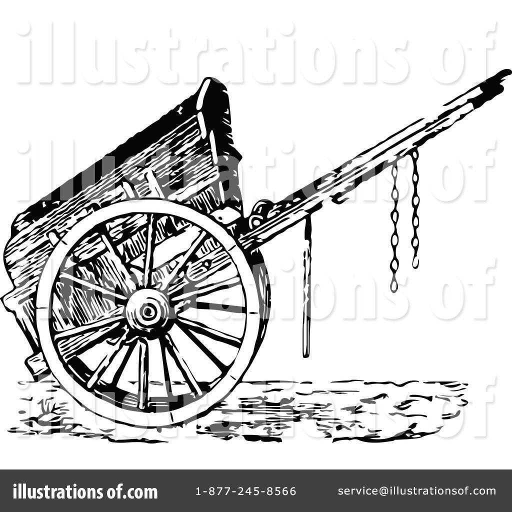 Royalty-Free (RF) Cart Clipart Illustrat-Royalty-Free (RF) Cart Clipart Illustration #1121283 by Prawny Vintage-7