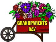 cart full of flowers for Grandparents Day
