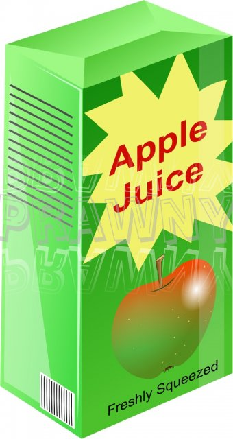 Carton Of Freshly Squeezed Apple Juice C-Carton of Freshly Squeezed Apple Juice Clipart-15