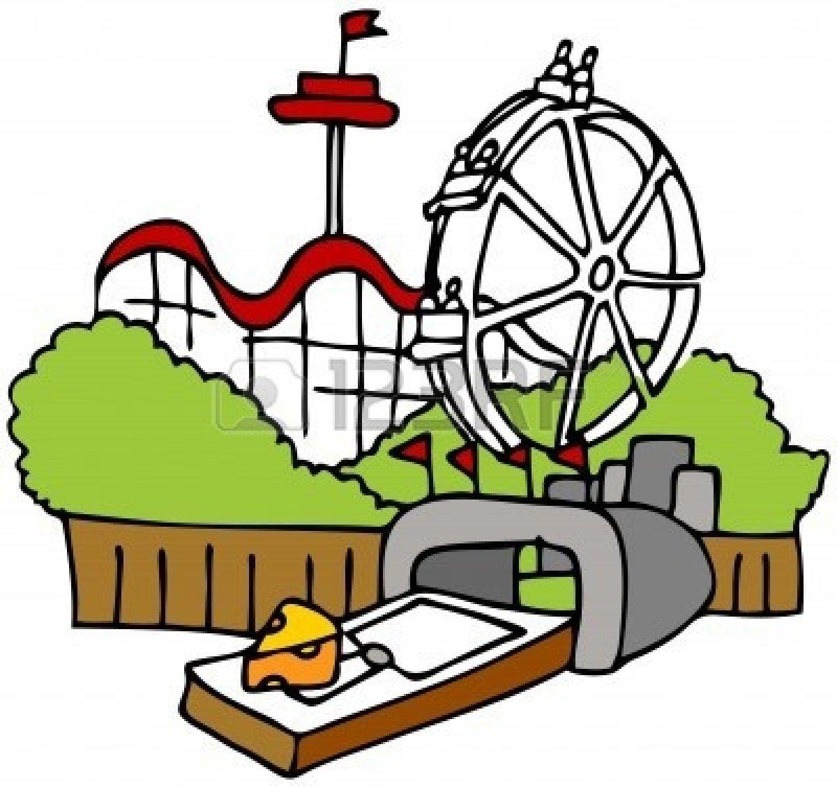 Cartoon Amusement Park Clipar - Amusement Park Clip Art