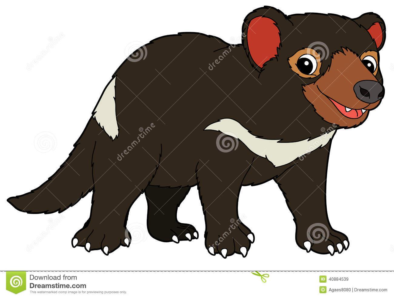 Cartoon Animal - Tasmanian .-Cartoon animal - tasmanian .-0