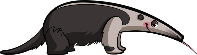 Cartoon Anteater Animal Vector .-Cartoon anteater animal vector .-9